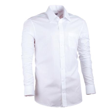 28c4e2933 Biela košeľa rovná pánska 100% bavlna non iron Assante 30003