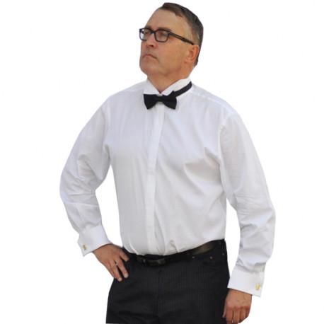 Frakovka pánska košeľa na manžetový gombík s dlhým rukávom slim fit Assante 30011