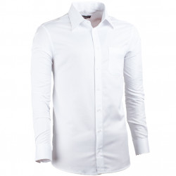 Biela pánska košeľa Assante rovná 30013
