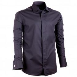 Čierna pánska košeľa na manžetový gombík Assante 30150