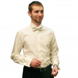 Frakovka pánska košeľa na manžetový gombík 100% bavlna non iron šampaň Assante 30208