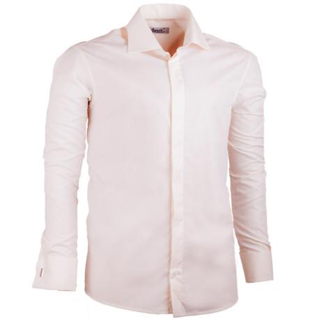 Šampaň pánska košeľa na manžetový gombík rovná Assante 30216