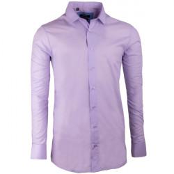 Fialová pánska košeľa s dlhým rukávom rovná Native 30315