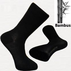 Čierne bambusové ponožky pánske Assante 70901
