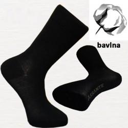 Čierne bavlnené ponožky Assante 71001