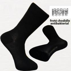 Čierne pánske ponožky antibakteriálne so striebrom Assante 71201