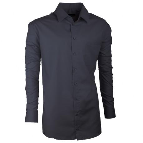 Predĺžená pánska košeľa slim šedá Assante 20101