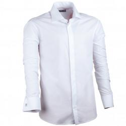 Nadmerná košeľa na manžetový gombík rovná biela Assante 31012
