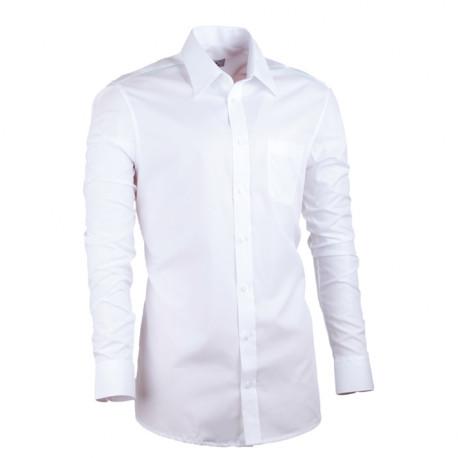 Predĺžená pánska košeľa slim biela Assante 20003