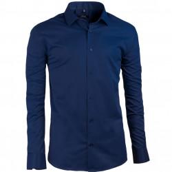 Predĺžená pánska košeľa modrá Assante 20607