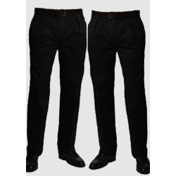 Čierne predĺžené pánske nohavice spoločenské na výšku 182 - 188 cm Falkom 160102