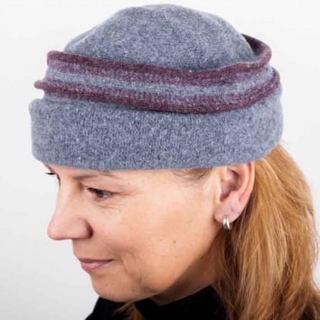 Sivá dámska elegantná čiapka TONAK 87312