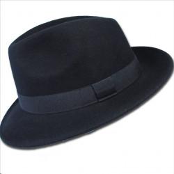 Čierny pánsky klobúk vodeodolný Assante 85006