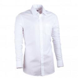 Predĺžená pánska košeľa slim biela Assante 20005
