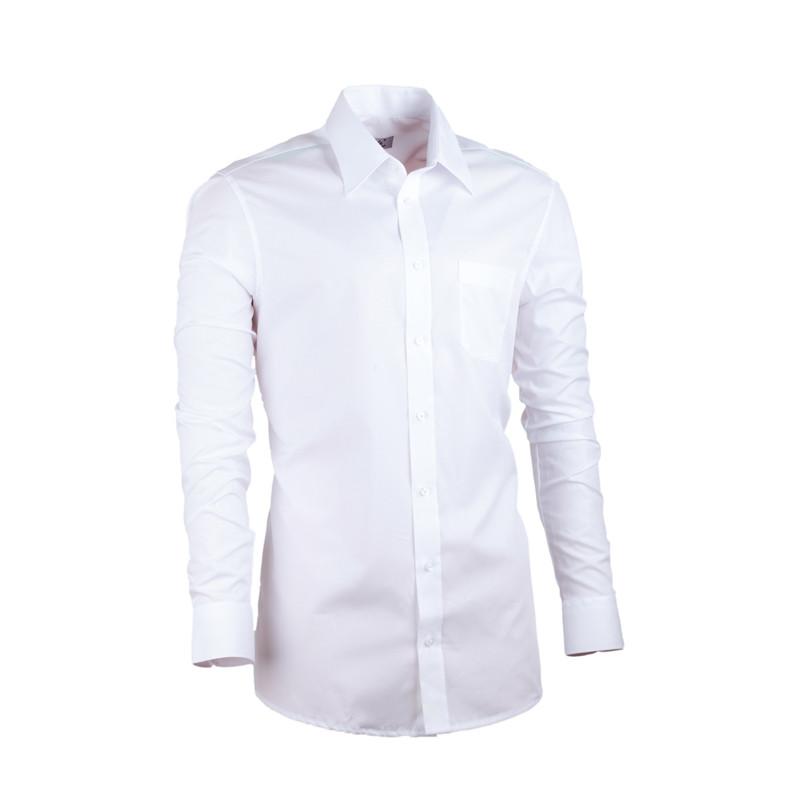 c5f0fbc78a98 Predĺžená pánska košeľa slim biela Assante 20005