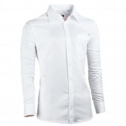 Biela pánska košeľa vypasovaná Assante 30017