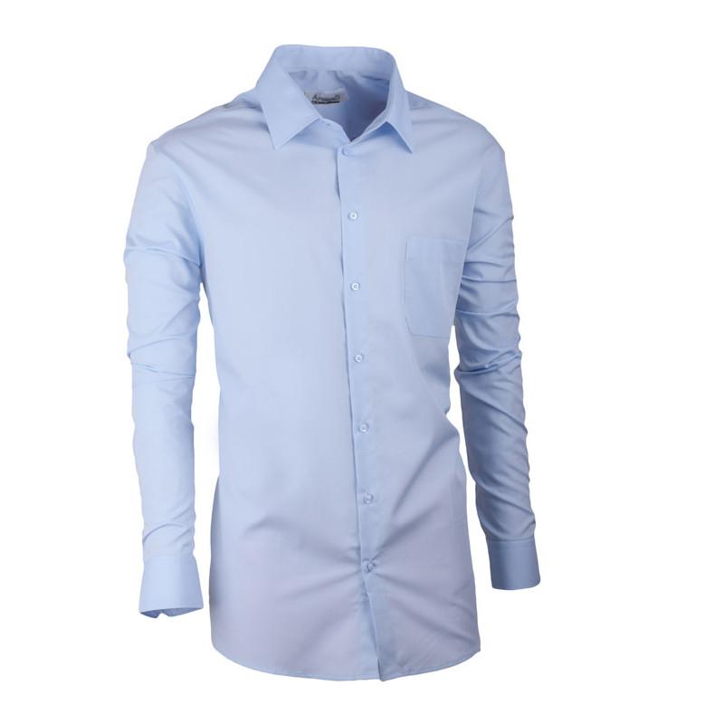 aa459d6c914e Modrá pánska košeľa s dlhým rukávom slim fit Aramgad 30480