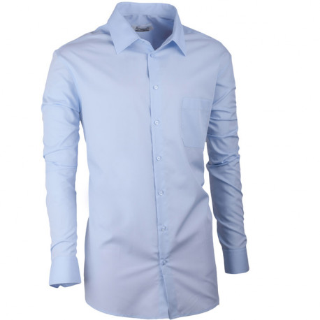 Modrá pánska košeľa regular fit s dlhým rukávom Aramgad 30481