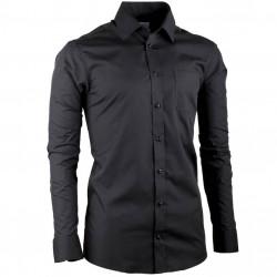 Čierna pánska košeľa s dlhým rukávom Aramgad 30181