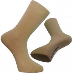 Béžové ponožky so striebrom antibakteriálne pánske Assante 71112