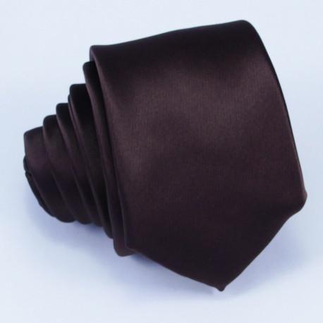 Úzka hnedá kravata Arturo Gottini 99123