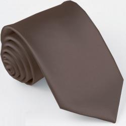 Tmavohnedá kravata jednofarebná Greg 99923
