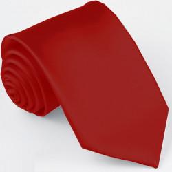Pánska červená jednofarebná kravata Greg 99966