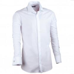 Biela pánska košeľa vypasovaná Assante 30025