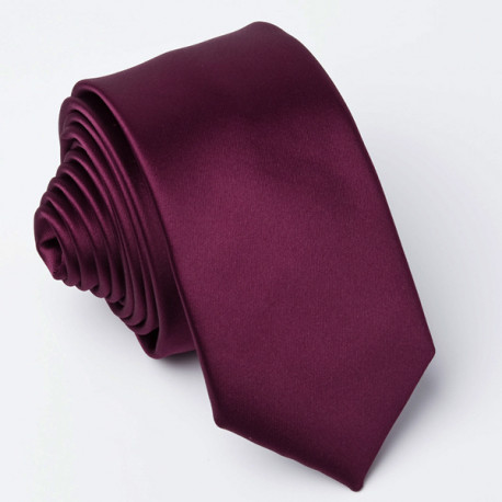 Fialová slim fit kravata Greg 99165