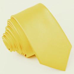 Žltá kravata jednofarebná Greg 99981