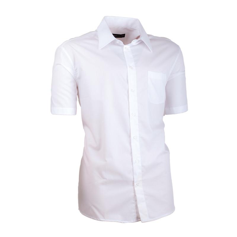 7ac14a88b833 Biela pánska košeľa slim fit 100% bavlna non iron Assante 40006 ...