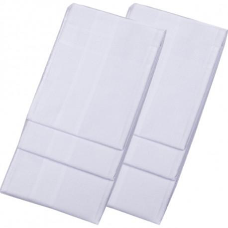 Biele pánske vreckovky 40x40cm balenie 6 ks Etex 90604