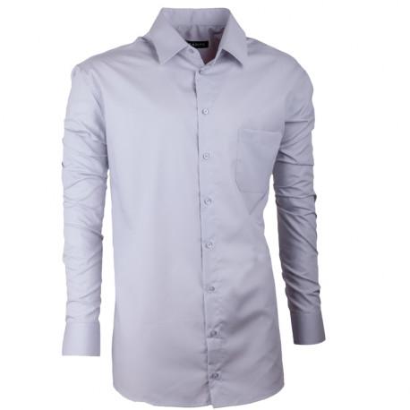 Predĺžená pánska košeľa regular svetlosivá Assante 20104