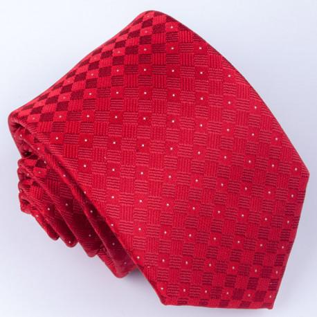 Červená klasická kravata vínová - bordó Greg 93010