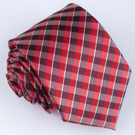 Pánska červená kravata Greg 93026
