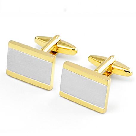 Manžetové gombíky zlato striebornej farby Assante 90574