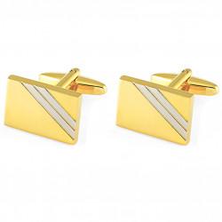 Manžetové gombíky zlatej farby Assante 90588