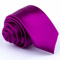 Cyklámenová slim kravata Rene Chagal 99164