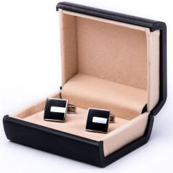 Čierne manžetové gombíky Assante 90508