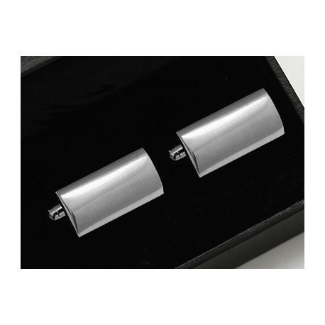 Manžetové gombíky striebornej farby Assante 90537