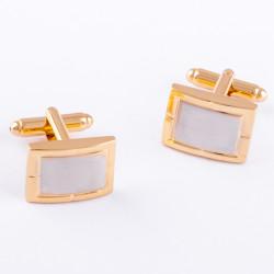 Manžetové gombíky zlato strieborne Assante 90547