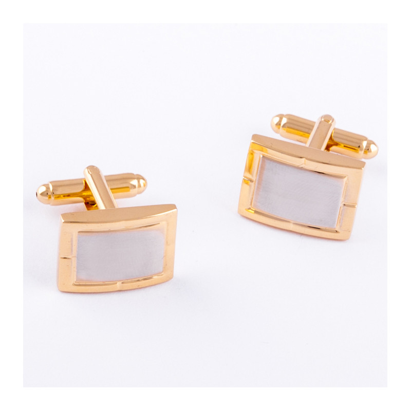 1a2886403feb Manžetové gombíky zlato striebornej farby Assante 90547 ...
