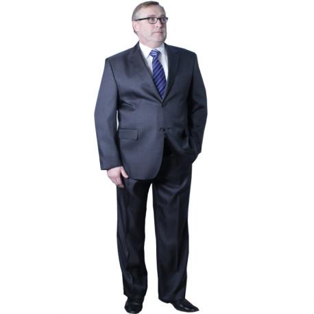 Pánsky sivý oblek skrátený na výšku 170 - 176 cm Galant 160600