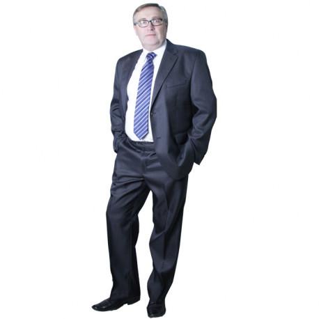 Sivý pánsky oblek spoločenský na výšku 176 - 182 cm Galant 160609