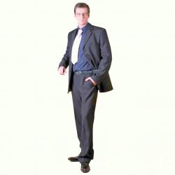 Sivý pánsky oblek extra predĺžený Galant 160603