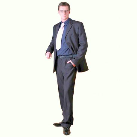 Sivý pánsky oblek extra predĺžený na výšku 188 - 194 cm Galant 160603