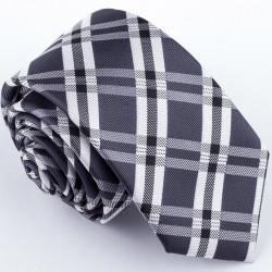 Slim sivá kravata Greg 99042