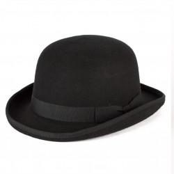 Čierny pinč pánsky klobúk 100% vlna Mes 85015