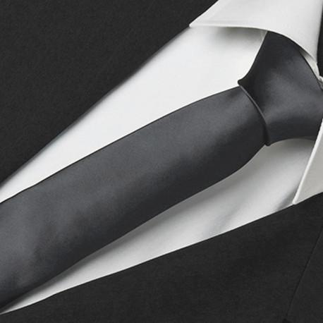 Čierna slim fit kravata Greg 99128