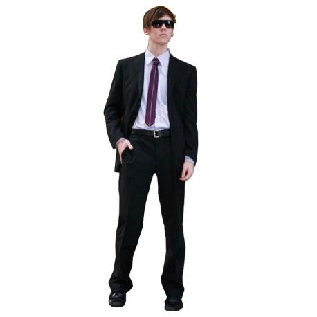 Čierny pánsky oblek extra predĺžený na výšku 188 - 194 cm Federico Calvallini 160620